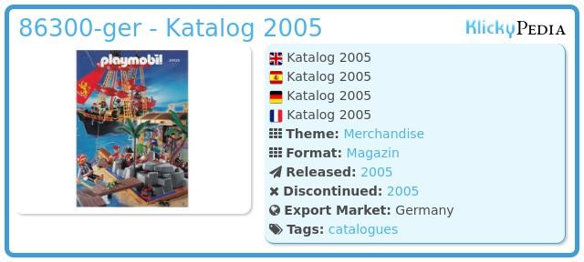 Playmobil 86300-ger - Katalog 2005