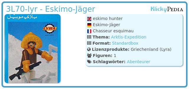 Playmobil 3L70-lyr - Eskimo mit Hund
