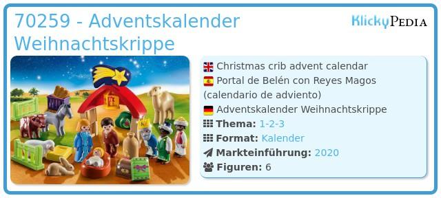 Playmobil 70259 - Adventskalender Weihnachtskrippe