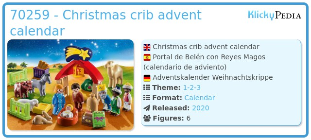 Playmobil 70259 - Christmas crib advent calendar