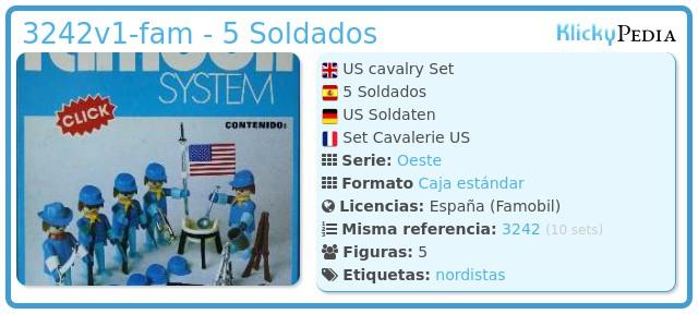 Playmobil 3242v1-fam - 5 Soldados