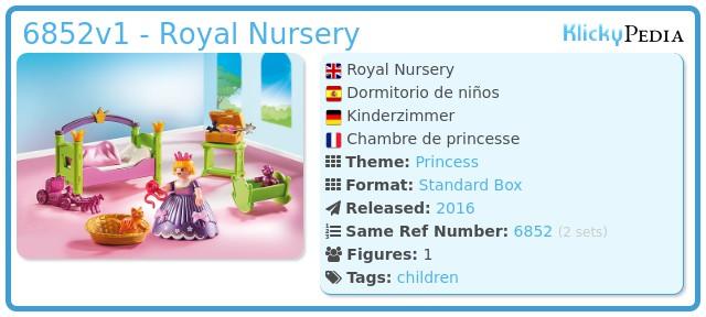 Playmobil 6852v1 - Royal Nursery
