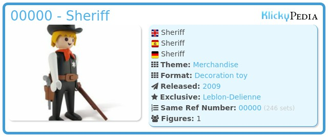 Playmobil 00000 - Sheriff