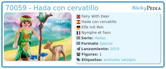 Playmobil 70059 - Elfo con ciervo