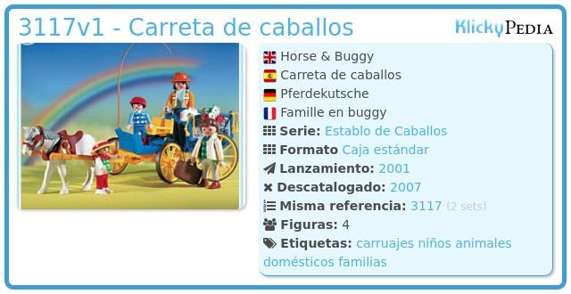Playmobil 3117v1 - Carreta de caballos