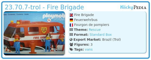 Playmobil 23.70.7-trol - Fire Brigade