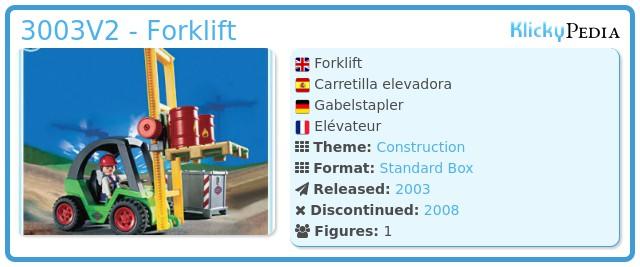 Playmobil 3003 - Forklift