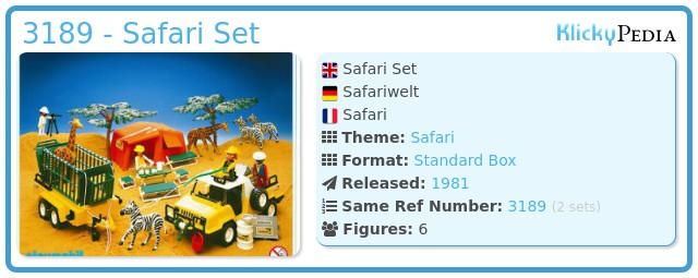Playmobil 3189 - Safari Set
