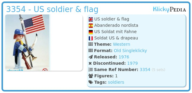 Playmobil 3354 - US soldier & flag