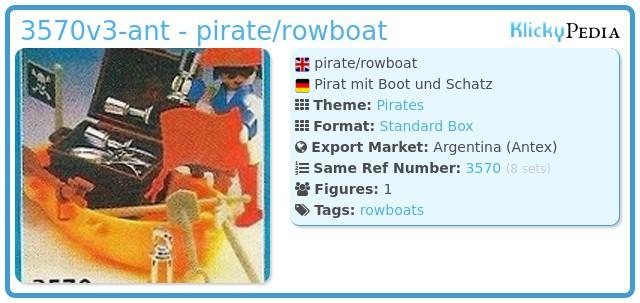 Playmobil 3570v3-ant - pirate/rowboat