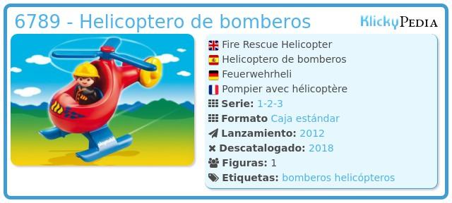 Playmobil 6789 - Helicoptero de bomberos