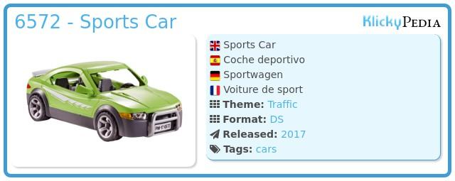 Playmobil 6572 - Sports Car