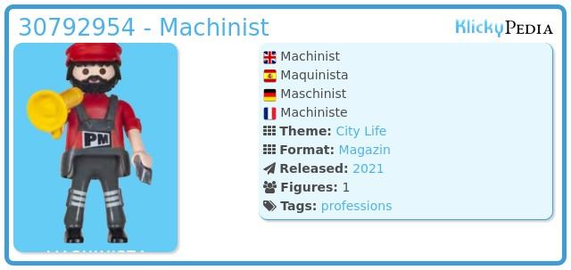 Playmobil 30792954 - Machinist