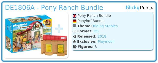 Playmobil DE1806A - Pony Ranch Bundle