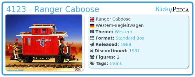 Playmobil 4123 - Ranger Caboose