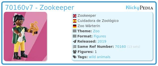 Playmobil 70160v7 - Zookeeper