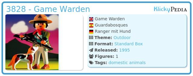 Playmobil 3828 - Game Warden