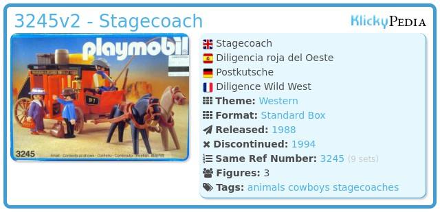 Playmobil 3245v2 - Wild West stagecoach