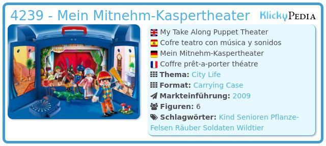 Playmobil 4239 - Mein Mitnehm-Kaspertheater