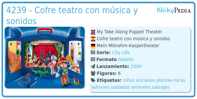 Playmobil 4239 - Cofre teatro con música y sonidos