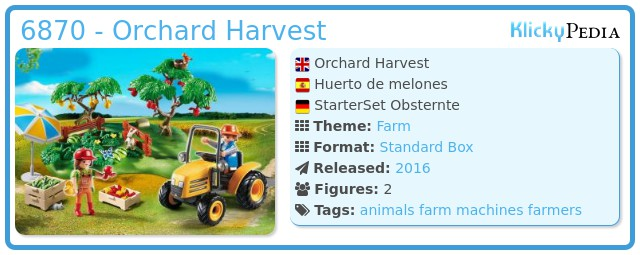 Playmobil 6870 - Orchard Harvest