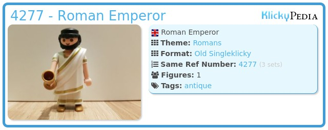 Playmobil 4277 - Roman emperor