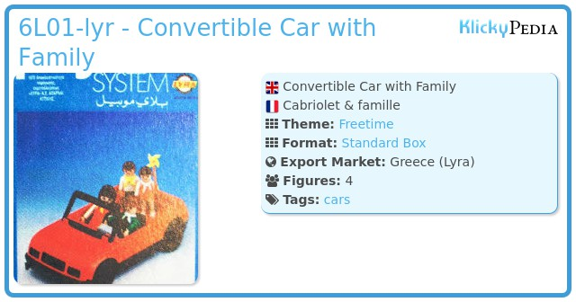 Playmobil 6L01-lyr - Convertible Car with Family