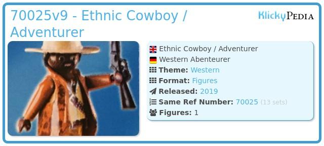 Playmobil 70025v9 - Ethnic Cowboy / Adventurer