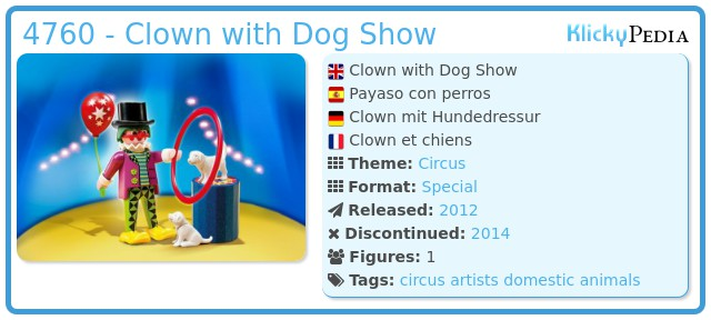 Playmobil 4760 - Clown with Dog Show