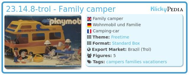 Playmobil 23.14.8-trol - Family camper