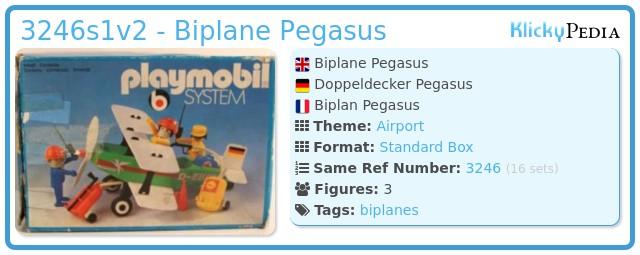 Playmobil 3246s1v2 - Biplane Pegasus