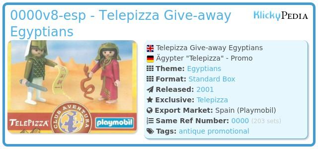 Playmobil 0000v8-esp - Telepizza Give-away Egyptians