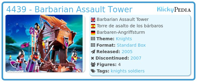 Playmobil 4439 - Barbarian Assault Tower