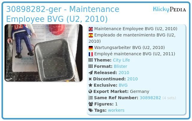 Playmobil 30898282-ger - Maintenance Employee BVG (U2, 2010)