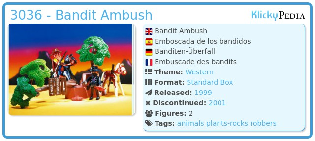 Playmobil 3036 - Bandit Ambush