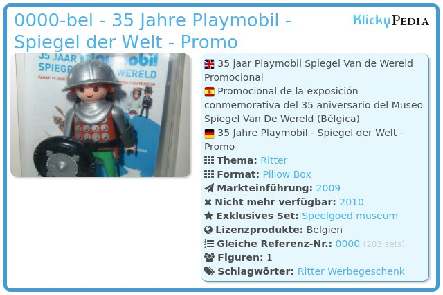 Playmobil 0000-bel - 35 Jahre Playmobil - Spiegel der Welt - Promo