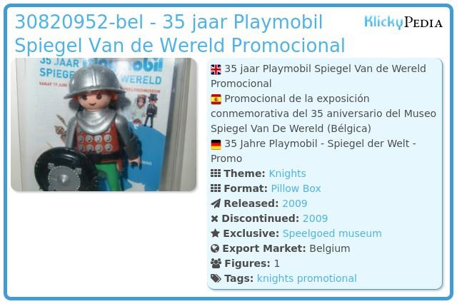 Playmobil 0000-bel - 35 jaar Playmobil Spiegel Van de Wereld Promocional