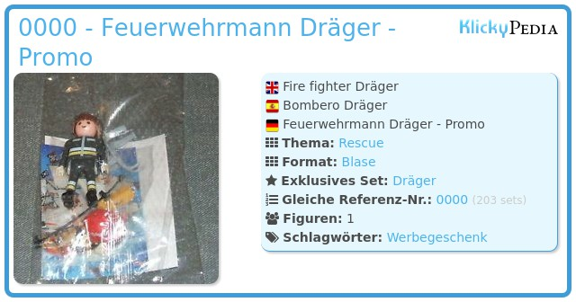 Playmobil 0000 - Feuerwehrmann Dräger - Promo