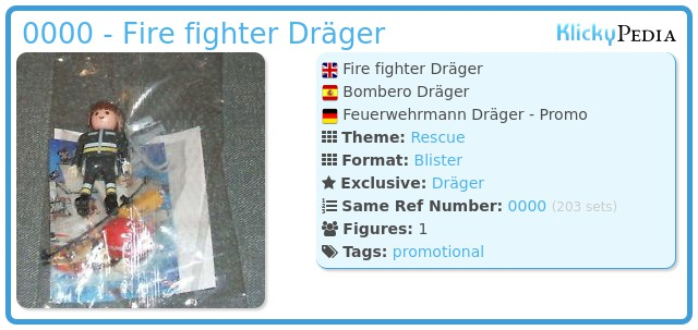 Playmobil 0000 - Fire fighter Dräger