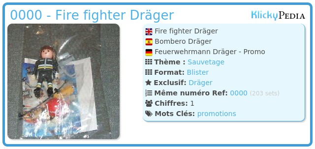 Playmobil 0000 - Fire fighter Dräger
