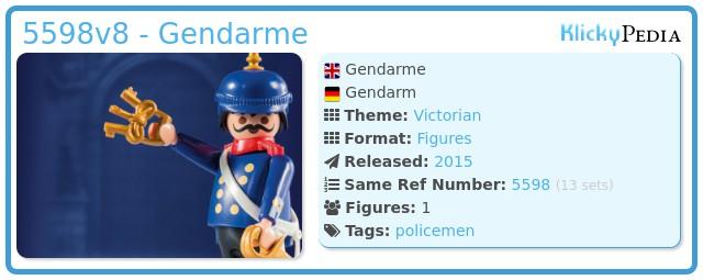 Playmobil 5598v8 - Gendarme