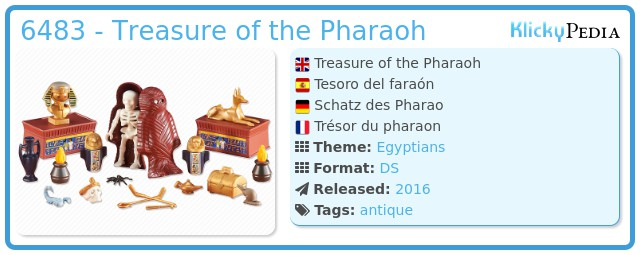 Playmobil 6483 - Treasure of the Pharaoh