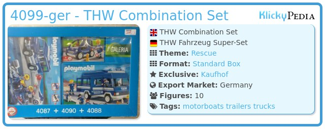 Playmobil 4099-ger - THW Combination Set