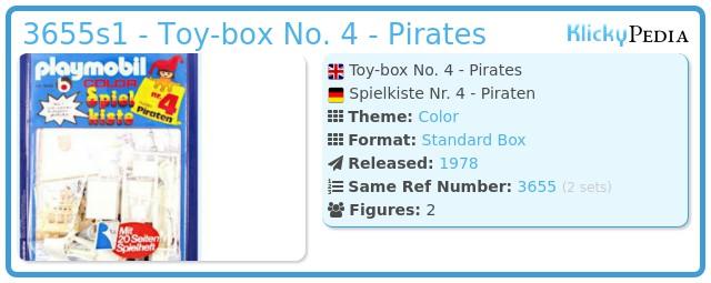 Playmobil 3655s1 - Toy-box No. 4 - Pirates