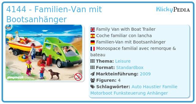 Playmobil 4144 - Familienbus mit Bootsanhänger