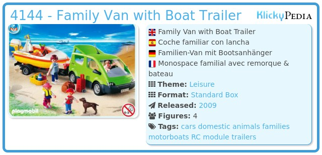 Playmobil 4144 - Family Van with Boat Trailer