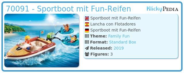 Playmobil 70091 - Sportboot mit Fun-Reifen