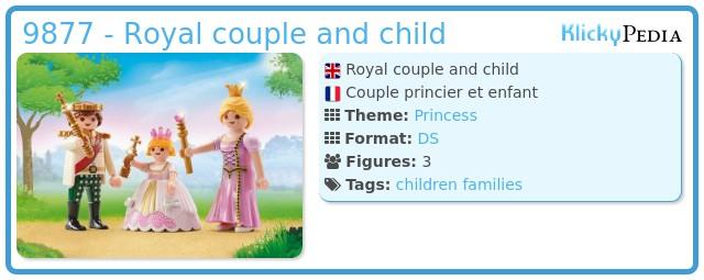 Playmobil 9877 - Royal couple and child