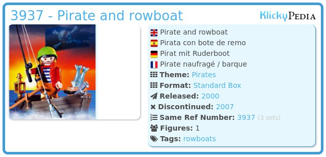 Playmobil 3937 - Pirate and rowboat