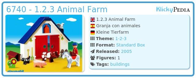 Playmobil 6740 - 1.2.3 Animal Farm